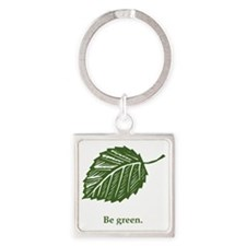 be green Square Keychain