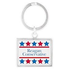 Reagan Conservative Landscape Keychain