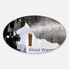 Global Warming December 2009 Sticker (Oval)