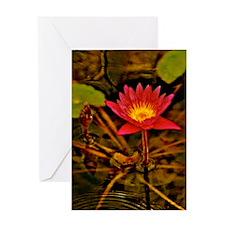 Yellow Ruben's Waterlily 9x12 Greeting Card