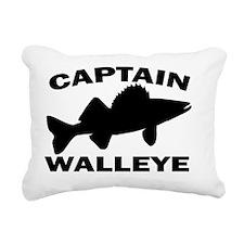 CAPTAIN WALLEYE 4 WHITE Rectangular Canvas Pillow