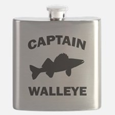 CAPTAIN WALLEYE CENTERED Flask
