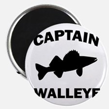 CAPTAIN WALLEYE CENTERED Magnet