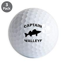 CAPTAIN WALLEYE CENTERED Golf Ball