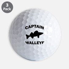 CAPTAIN WALLEYE CENTERED Golf Ball