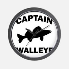 CAPTAIN WALLEYE CENTERED Wall Clock