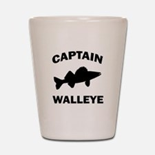 CAPTAIN WALLEYE CENTERED Shot Glass