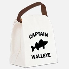 CAPTAIN WALLEYE CENTERED Canvas Lunch Bag