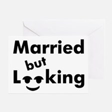 shirt-married-looking Greeting Card