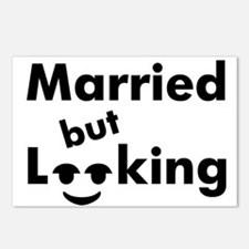 shirt-married-looking Postcards (Package of 8)