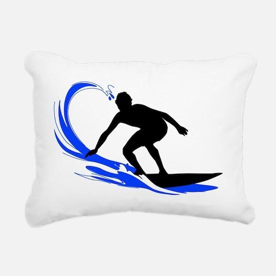 shirt-waves-surfer2 Rectangular Canvas Pillow