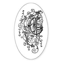 Letter G Oval Decal