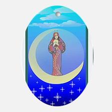 The Moon Tarot Oval Ornament