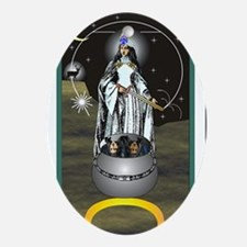 High Priestess Tarot Card Oval Ornament