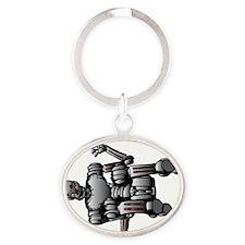 Do the Robot Break Dance Oval Keychain