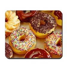 Assorted delicious donuts Mousepad