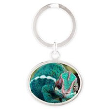 6-vega_greenn Oval Keychain