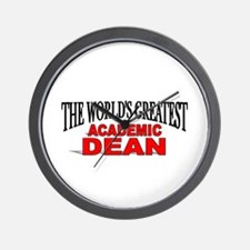 """The World's Greatest Academic Dean"" Wall Clock"