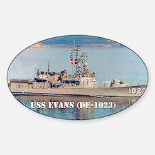 evans large poster Sticker (Oval)