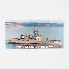 evans mini poster Aluminum License Plate
