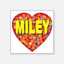 "2010_miley_plump_transparen Square Sticker 3"" x 3"""