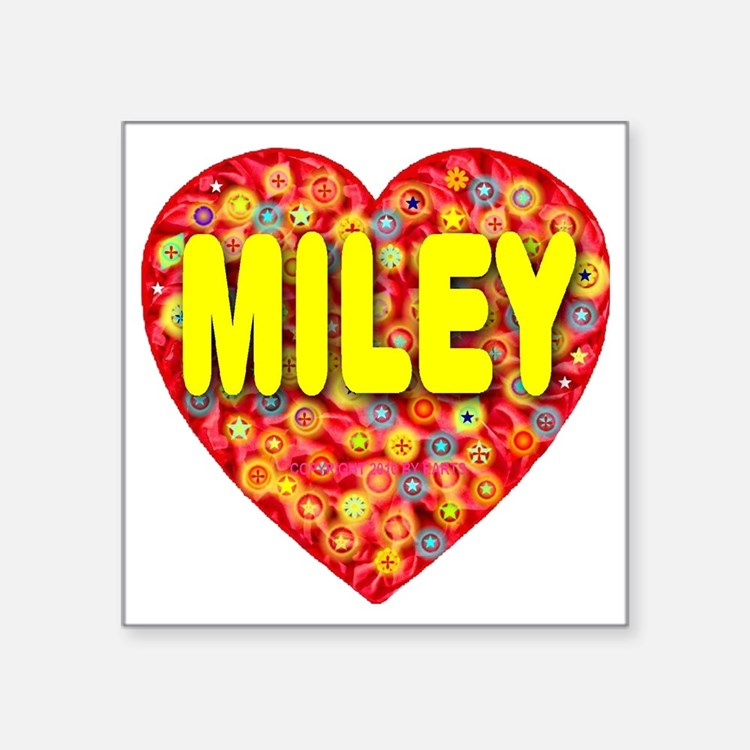"2010_miley_plump_transparen Square Sticker 3"" x 3"""