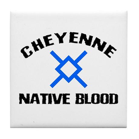 Cheyenne Native Blood Tile Coaster