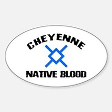Cheyenne Native Blood Oval Decal