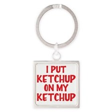ketchup Square Keychain