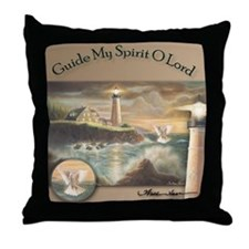 """Guide my Spirit O Lord"" Christian Fine Art Pillow"