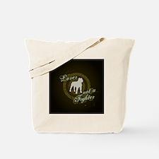 2-loverfighterdarkbg-sq Tote Bag