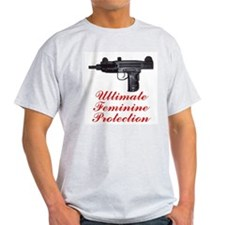 UZI, Ultimate Feminine Protec Ash Grey T-Shirt