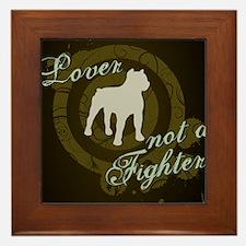 2-loverfighterdarkbg-jrnl Framed Tile