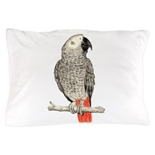African Grey in Pencil Pillow Case