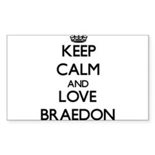 Keep Calm and Love Braedon Decal