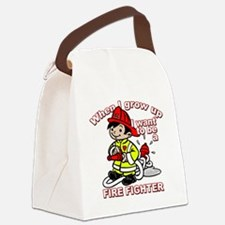 2-firefighter_CP Canvas Lunch Bag