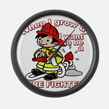 2-firefighter_CP Large Wall Clock
