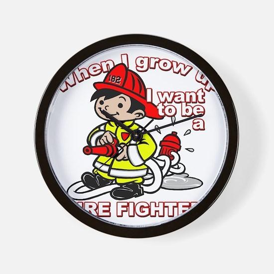 2-firefighter_CP Wall Clock