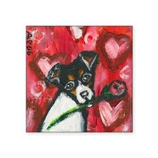 "ratterrierroseval Square Sticker 3"" x 3"""
