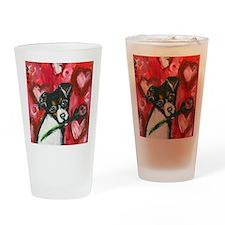 ratterrierroseval Drinking Glass