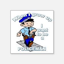 """policeman_CP Square Sticker 3"""" x 3"""""""