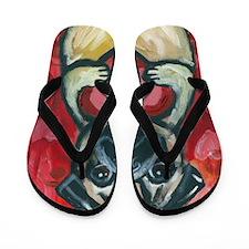 pugbeminebig Flip Flops