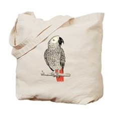African Grey in Pencil Tote Bag