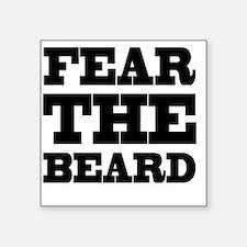 "Fear The Beard Square Sticker 3"" x 3"""