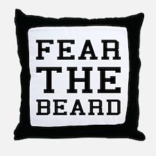 Fear The Beard Throw Pillow