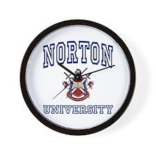 NORTON University Wall Clock