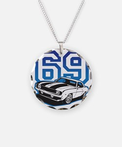 blue 69 camaro Necklace