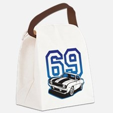 blue 69 camaro Canvas Lunch Bag