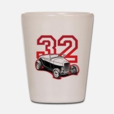 red 32 ford Shot Glass