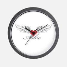 Angel Wings Abbie Wall Clock